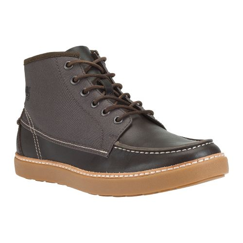 Mens Timberland EK Hudston Fabric and Leather Casual Shoe - Dark Brown 9.5
