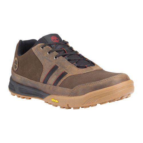 Mens Timberland EK Pembroke Low Leather Casual Shoe - Brown 14