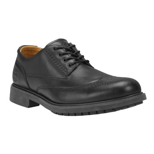 Mens Timberland EK Stormbuck Brogue Oxford Casual Shoe - Black Smooth 13