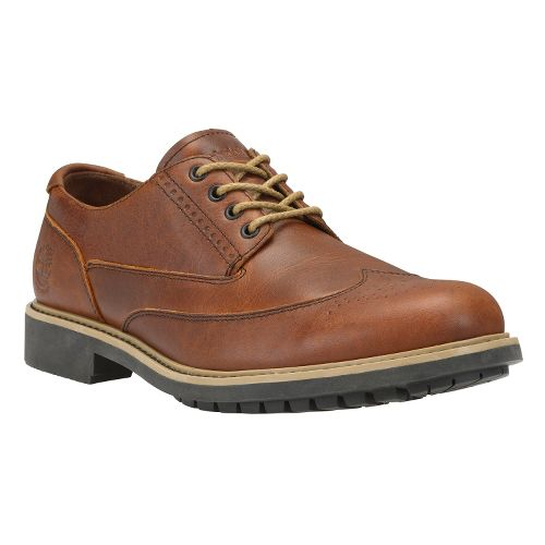Mens Timberland EK Stormbuck Brogue Oxford Casual Shoe - Red Brown Smooth 7.5