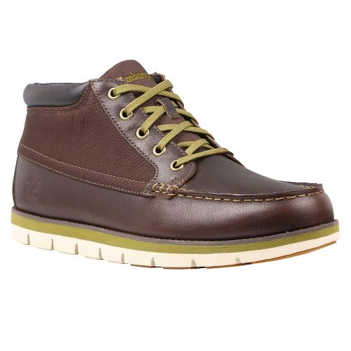 Mens Timberland Harborside Moc Toe Chukka Casual Shoe - Bark Oiled Cordura 11.5