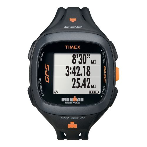 Timex Ironman Run Trainer 2.0 GPS Speed & Distance Monitors - Black/Orange