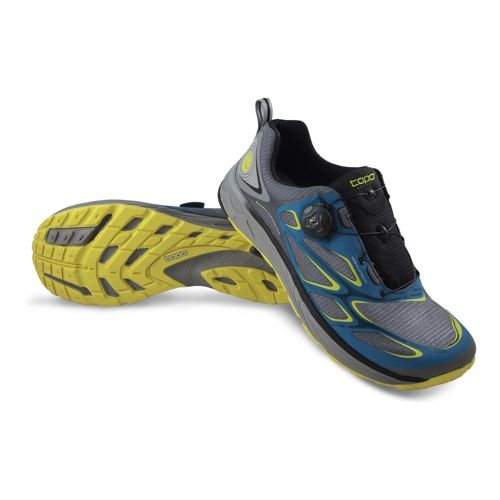 Mens Topo Athletic Runduro Running Shoe - Grey/Citrus 10.5