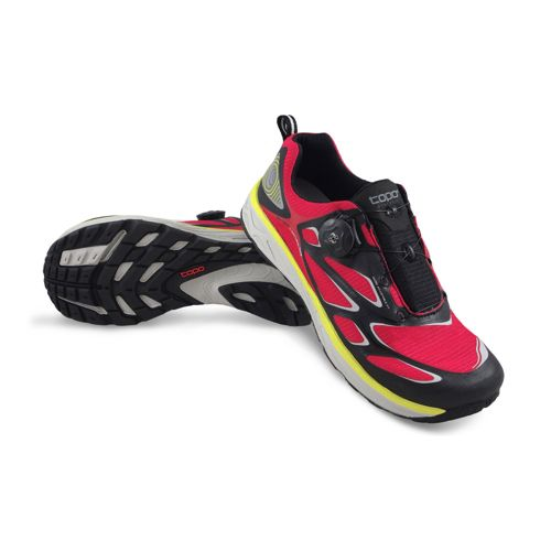 Womens Topo Athletic Runduro Running Shoe - Black/Raspberry 6.5