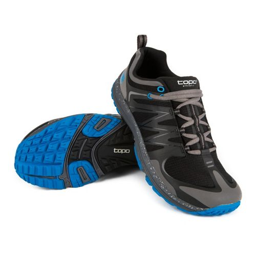 Mens Topo Athletic M-MT Trail Running Shoe - Black/Royal 9.5