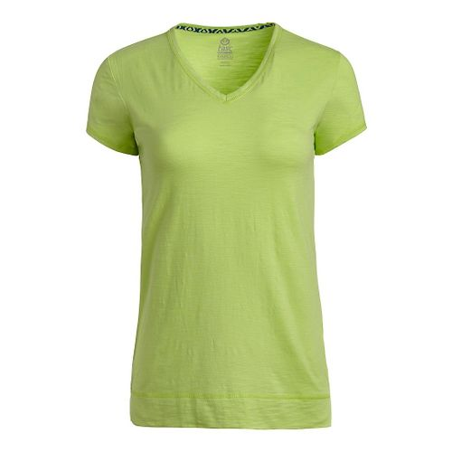 Womens Tasc Performance Streets V Short Sleeve Technical Tops - Limeade L