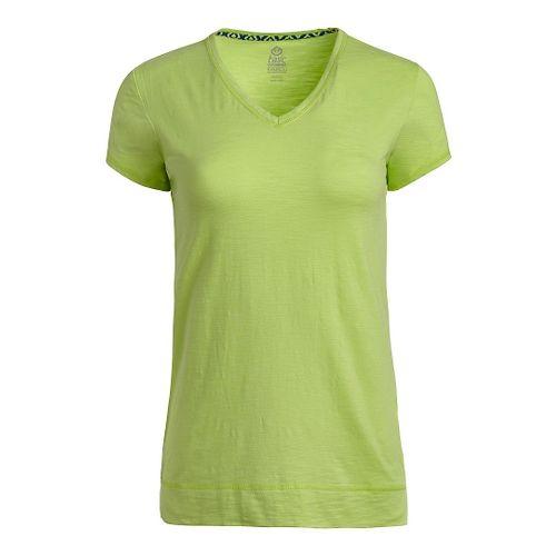 Womens Tasc Performance Streets V Short Sleeve Technical Tops - Limeade XS