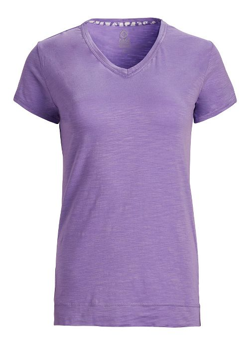 Womens Tasc Performance Streets V Short Sleeve Technical Tops - Lilac XL