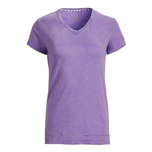 Womens Tasc Performance Streets V Short Sleeve Technical Tops - Lilac M