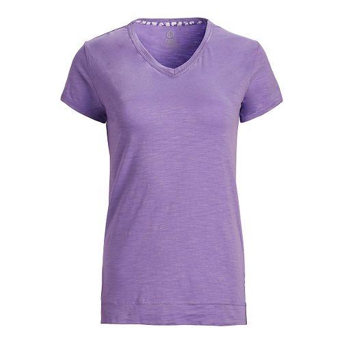 Womens Tasc Performance Streets V Short Sleeve Technical Tops - Lilac S