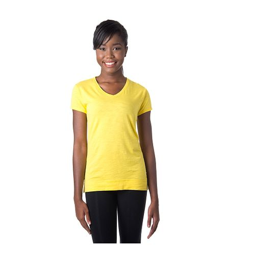Womens Tasc Performance Streets V Short Sleeve Technical Tops - Maize M