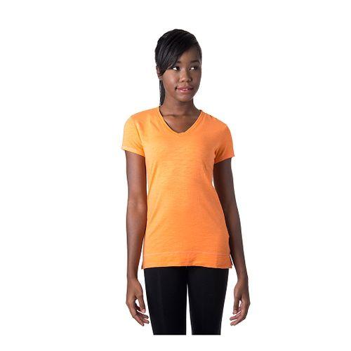 Womens Tasc Performance Streets V Short Sleeve Technical Tops - Nectarine XL