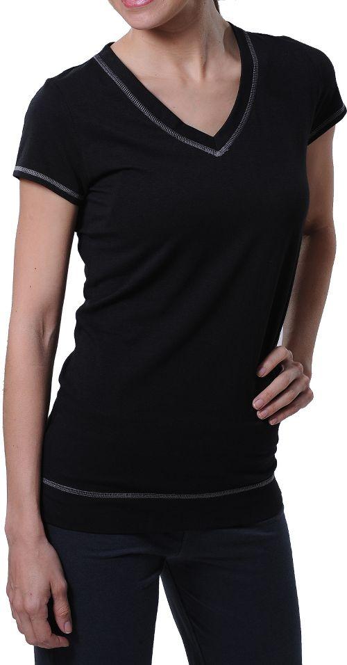 Womens Tasc Performance Streets V Short Sleeve Technical Tops - Black XS