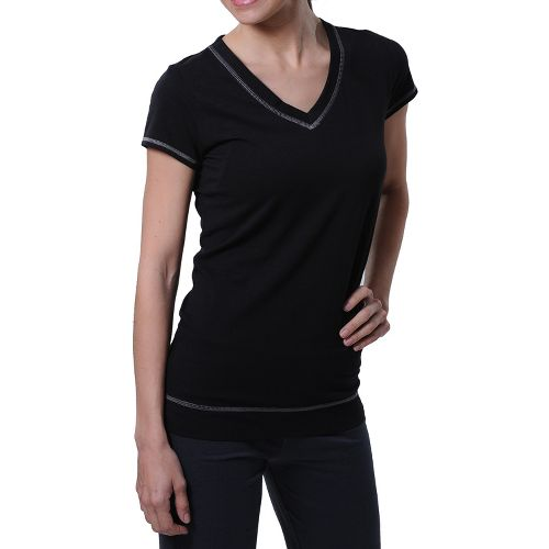 Womens Tasc Performance Streets V Short Sleeve Technical Tops - Black XS