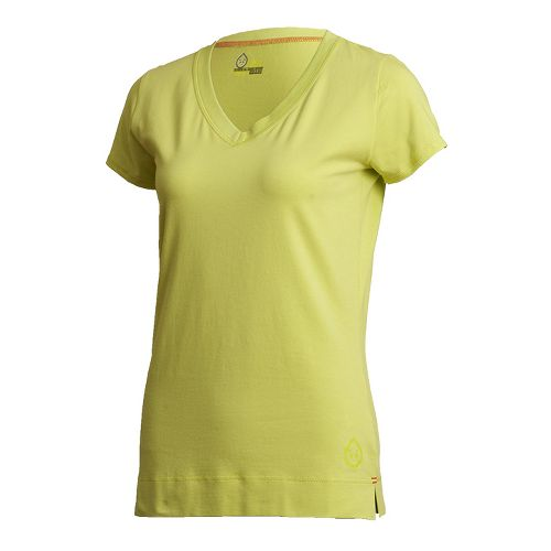 Womens Tasc Performance Streets V Short Sleeve Technical Tops - Daiquiri L