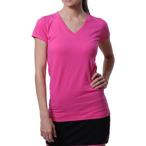 Womens Tasc Performance Streets V Short Sleeve Technical Tops - Dragonfruit S