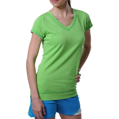 Womens Tasc Performance Streets V Short Sleeve Technical Tops - Lime M