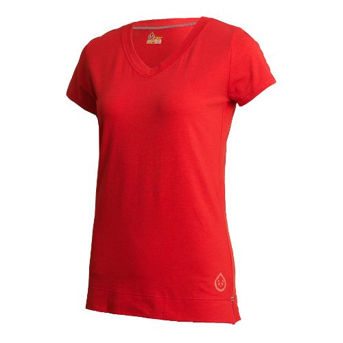 Womens Tasc Performance Streets V Short Sleeve Technical Tops - Persimmon XS