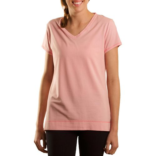 Womens Tasc Performance Streets V Short Sleeve Technical Tops - Petal Pink S