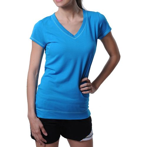 Womens Tasc Performance Streets V Short Sleeve Technical Tops - Shark Tank XS