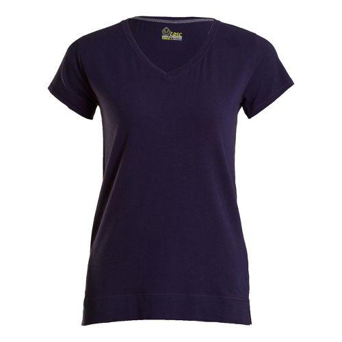 Womens Tasc Performance Streets V Short Sleeve Technical Tops - True Navy L