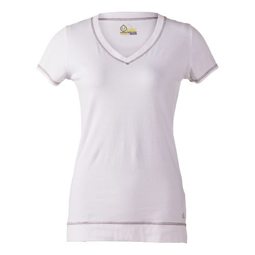 Womens Tasc Performance Streets V Short Sleeve Technical Tops - White L