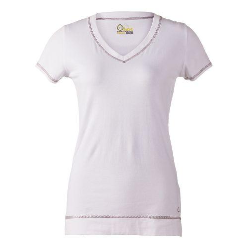 Womens Tasc Performance Streets V Short Sleeve Technical Tops - White S