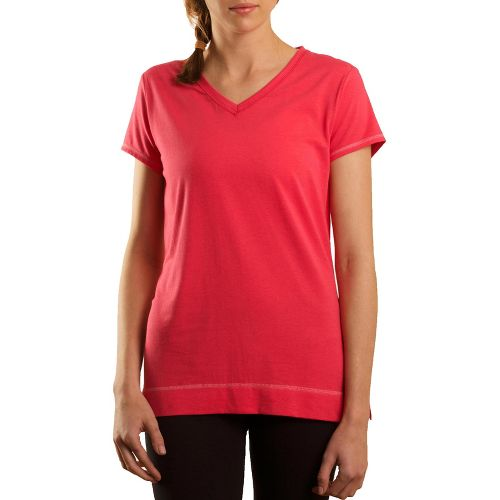 Womens Tasc Performance Streets V Short Sleeve Technical Tops - Watermelon L