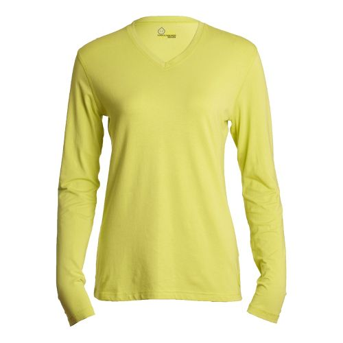 Womens Tasc Performance Core V-Neck Long Sleeve No Zip Technical Tops - Daiquiri M