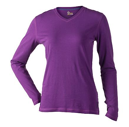 Womens Tasc Performance Core V-Neck Long Sleeve No Zip Technical Tops