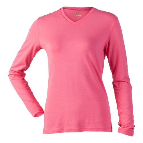 Womens Tasc Performance Core V-Neck Long Sleeve No Zip Technical Tops - RockStar L