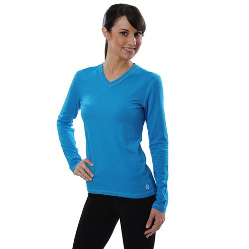 Womens Tasc Performance Core V-Neck Long Sleeve No Zip Technical Tops - Shark Tank M ...