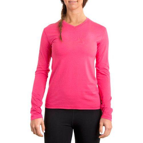 Womens Tasc Performance Core V-Neck Long Sleeve No Zip Technical Tops - Watermelon L