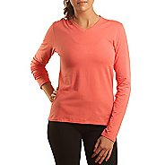 Womens Tasc Performance Core LS V-Neck Long Sleeve No Zip Technical Tops