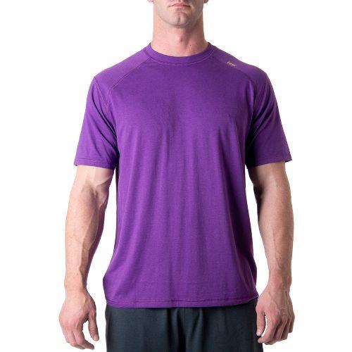Mens Tasc Performance Carrollton T Short Sleeve Technical Tops - Tiger Purple S