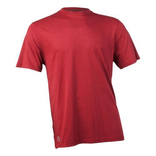 Mens Tasc Performance Carrollton T Short Sleeve Technical Tops - Dark Red L