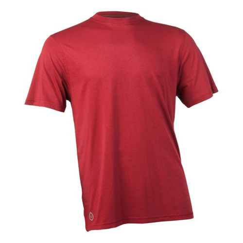 Mens Tasc Performance Carrollton T Short Sleeve Technical Tops - Dark Red S