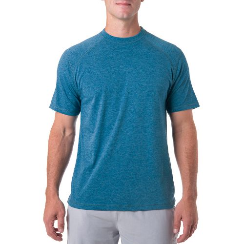 Mens Tasc Performance Carrollton T Short Sleeve Technical Tops - Marina Heather S