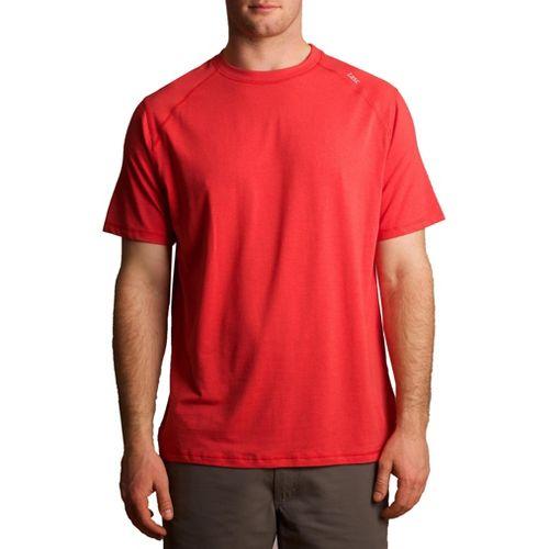 Mens Tasc Performance Carrollton T Short Sleeve Technical Tops - Red Rocks S