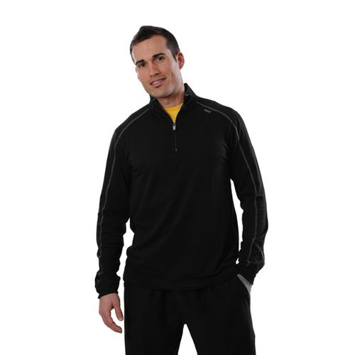 Mens Tasc Performance Core 1/4-Zip Long Sleeve Technical Tops - Black/Heather Grey S