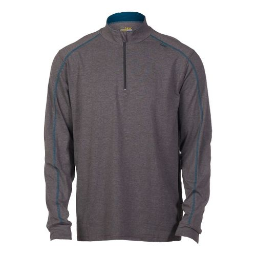 Mens Tasc Performance Core 1/4-Zip Long Sleeve Technical Tops - Heather Grey/Tundra L