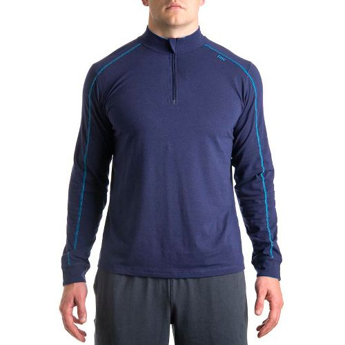 Mens Tasc Performance Core 1/4-Zip Long Sleeve Technical Tops - True Navy/Tidal XXL