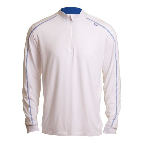 Mens Tasc Performance Core 1/4-Zip Long Sleeve Technical Tops - White/Cobalt XL