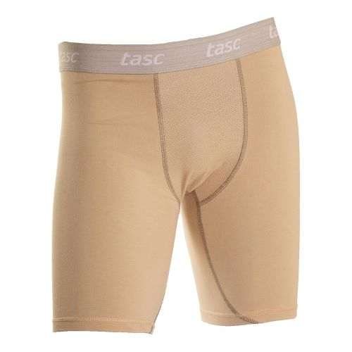 Mens Tasc Performance Ventilated Compression Short Boxer Brief Underwear Bottoms - Dessert Sand S