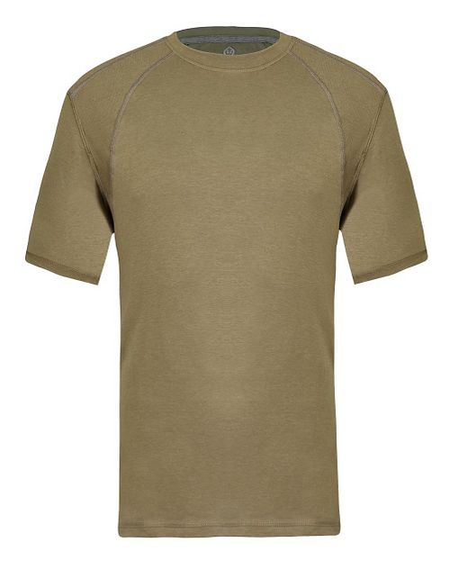 Mens Tasc Performance Hybrid Fitted Crew Short Sleeve Technical Tops - Coyote Brown S
