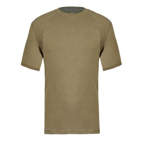 Mens Tasc Performance Hybrid Fitted Crew Short Sleeve Technical Tops - Coyote Brown L