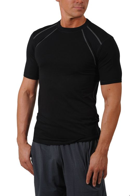 Mens Tasc Performance Hybrid Fitted Crew Short Sleeve Technical Tops - Black XL