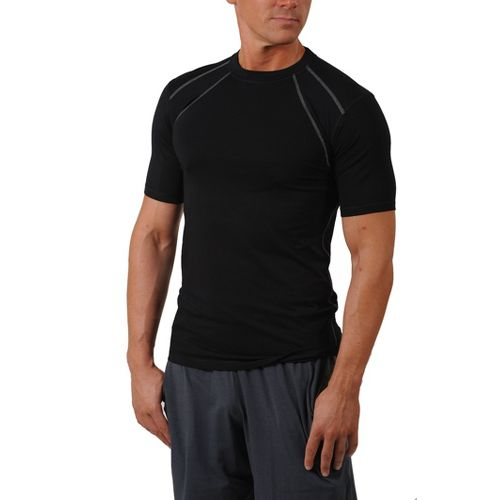 Mens Tasc Performance Hybrid Fitted Crew Short Sleeve Technical Tops - Black L