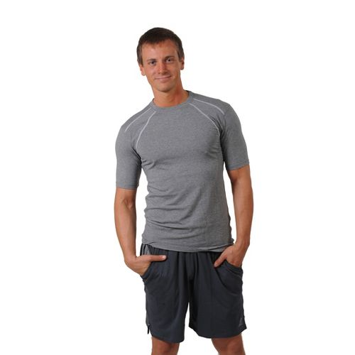 Mens Tasc Performance Hybrid Fitted Crew Short Sleeve Technical Tops - Heather Grey XXL