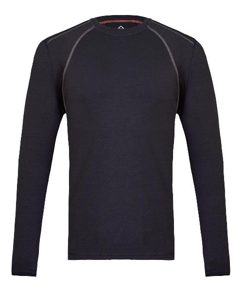 Mens Tasc Performance Hybrid Fitted Crew Long Sleeve Technical Tops - Dark Navy S
